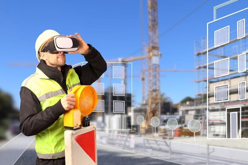 VR-Brillen auf der Baustelle