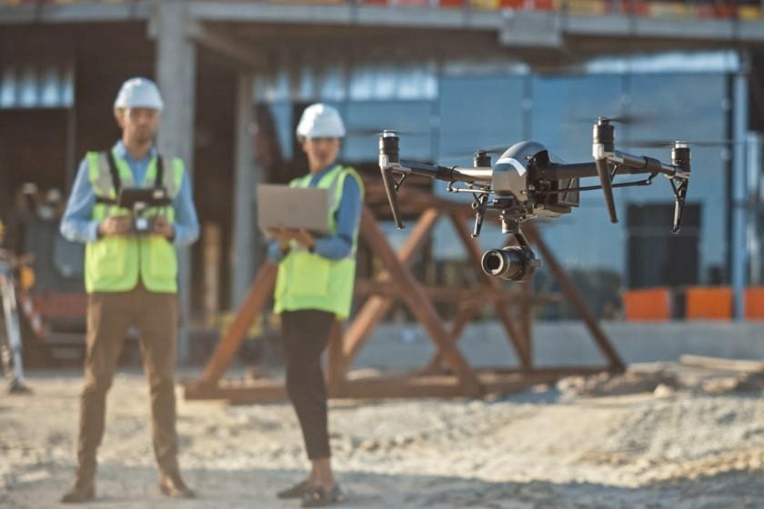 Digitalisierung auf der Baustelle: der Einsatz von Drohnen