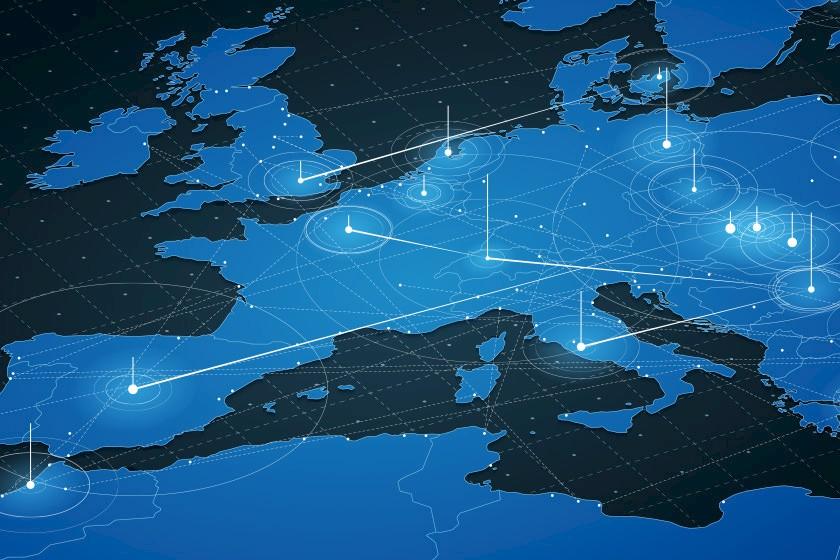 Darstellung Vernetzung von ibau in Europa