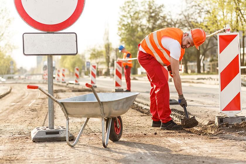 Verkehrsschild Arbeitsschutz