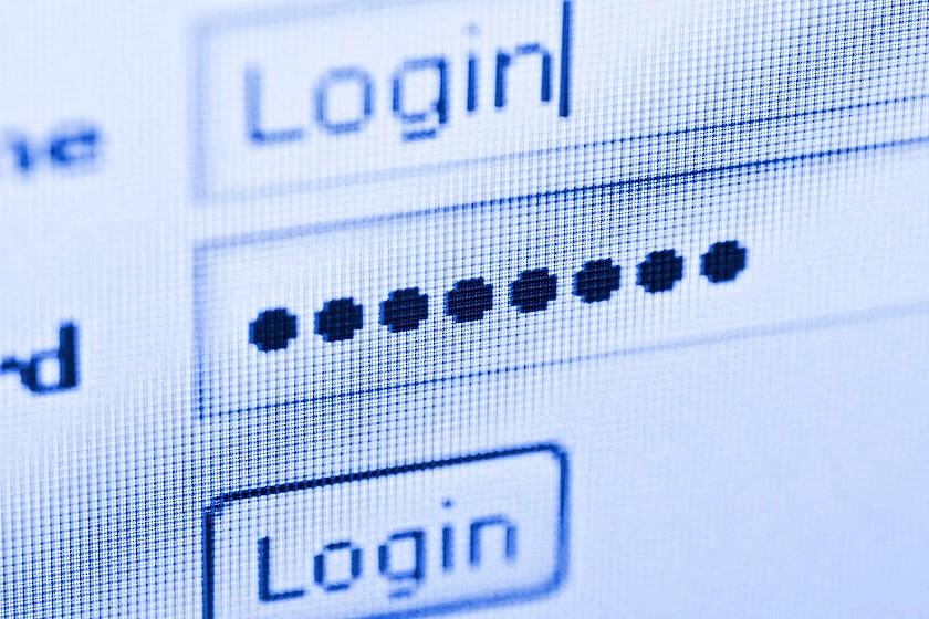 Passworteingabe beim Login