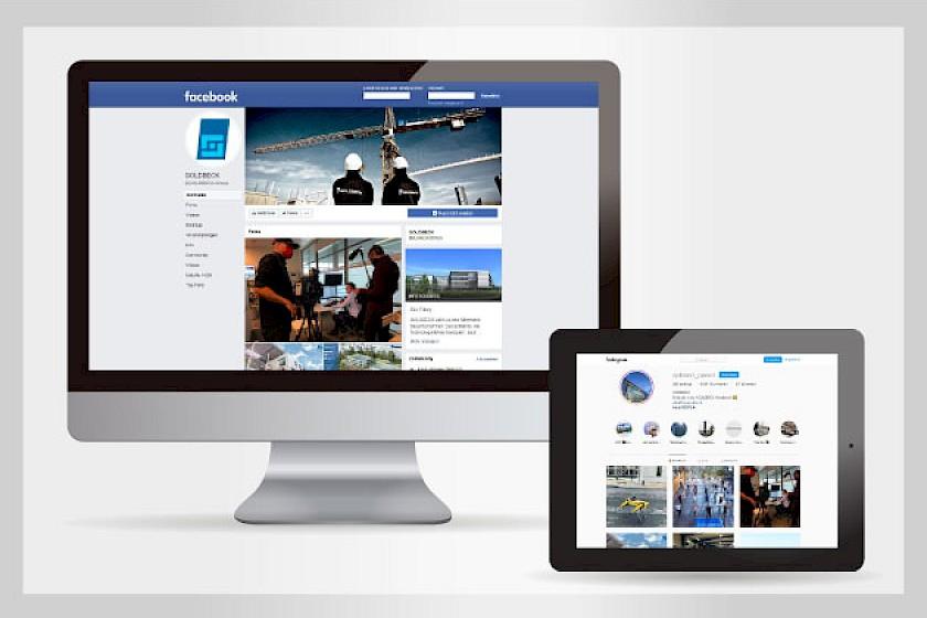 Social Media Kanäle der Goldbeck GmbH